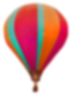 Medium blured baloon